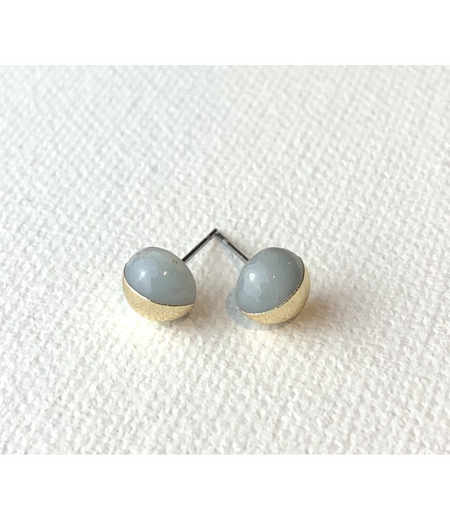 Scout Dipped Stone Stud Earrings - Amazonite/Gold