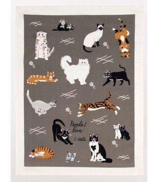 Blue Q People I Love: Cats - Dish Towel