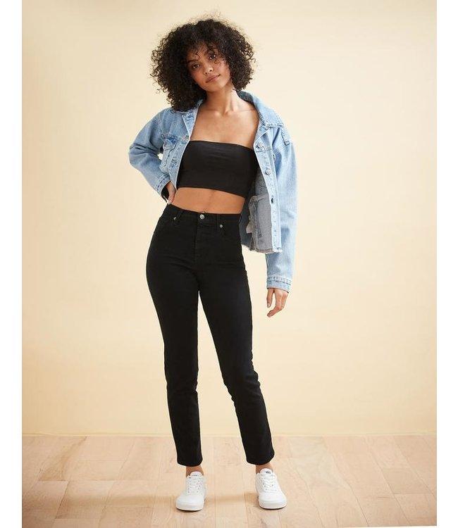 "Yoga Jeans High Rise Slim - Black / 30"" inseam"