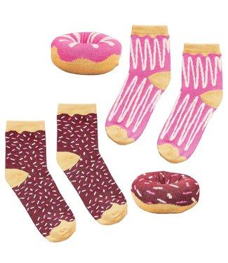 Wild and Wolf Donut Socks