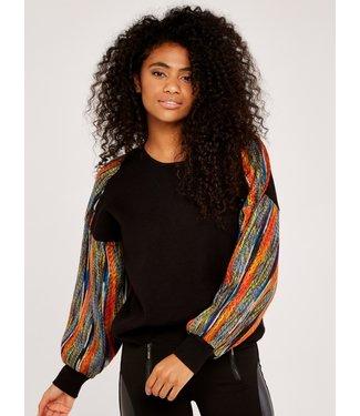 Apricot Multi-colour Thread Sweater