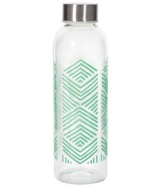 Glass Water Bottle - Mint