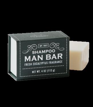 San Francisco Soap Company Shampoo Man Bar - Eucalyptus