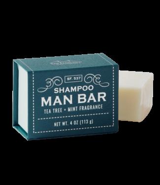 San Francisco Soap Company Shampoo Man Bar - Tea Tree + Mint