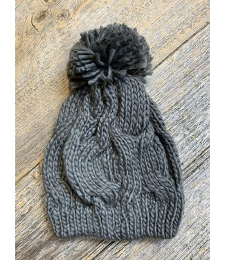 Cable knit Toque - Charcoal