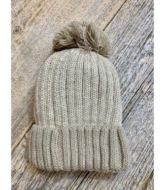 Pompom Toque - Fleece lined