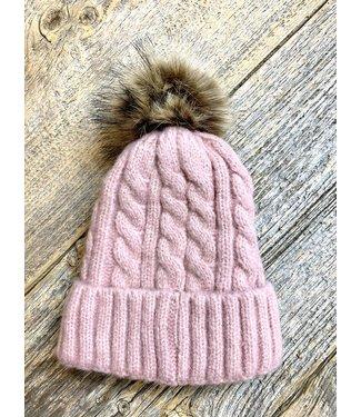 Soft Knit Toque - Pink