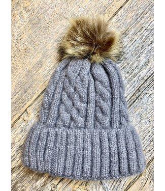 Soft Knit Toque - Grey