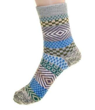 Cedar Paddle Boot socks- Grey/Striped