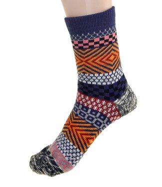 Cedar Paddle Boot socks- Purple/Black Striped