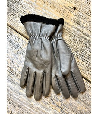 Leather Gloves w/Fleece Lining