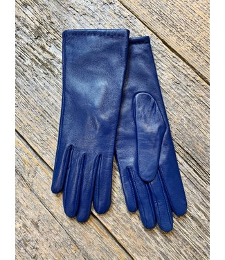 Royal Blue Leather Gloves