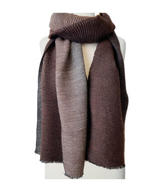 Ombre Scarf - Coffee