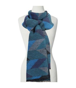 Geometrical Pattern Scarf - Blue