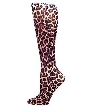 Celeste Stein Knee High Socks - Brown Leopard