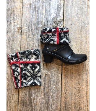 Honeybea Honeybea Boot Cuffs - Fuzzy Black&White