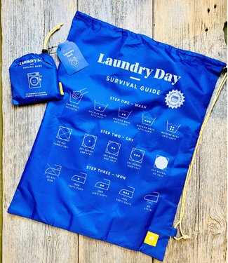 Wild and Wolf Laundry Bag - Survival Guide - Blue