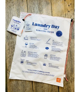 Wild and Wolf Laundry Bag - Survival Guide - White