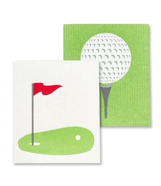 Abbott Golf Ball & Green Dishcloth