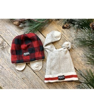 Pook Pook Adult Toque - Red w/ears