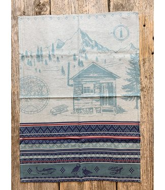 French Tea Towel - Blue Cabin