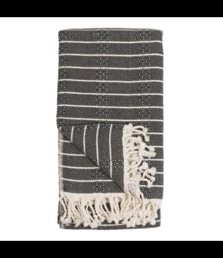 Pokoloko Turkish Towel - Bamboo Stripe - Monochrome