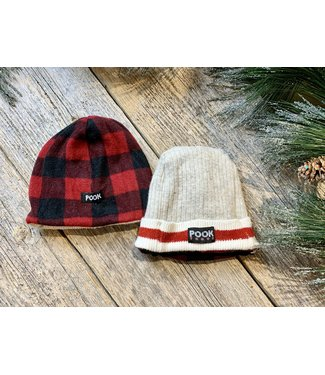 Pook Pook Adult Toque - Red No Ears