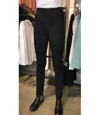 Point Zero Seamed Faux Suede Pull-on Pants