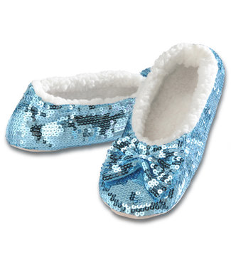 Snoozies Snoozie Slippers - Sequin - Blue