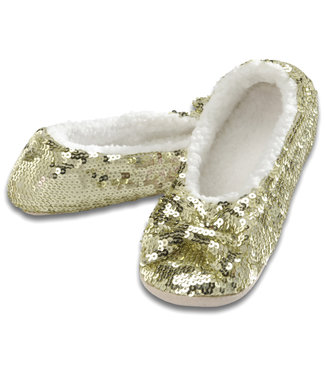 Snoozies Snoozie Slippers - Sequin - Gold