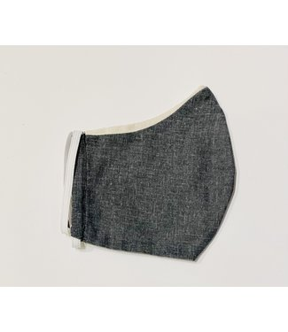 Face Mask - Upcycled - Charcoal - Made in Canada