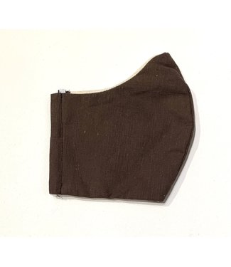 Face Mask - Upcycled - Brown - Made in Canada