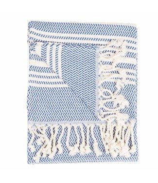 Pokoloko Turkish Hand Towel - Hasir - Navy
