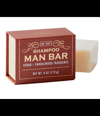 San Francisco Soap Company Shampoo Man Bar - Cedar + Sandalwood