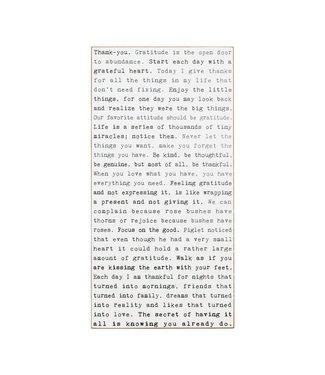 Cedar Mountain Wall Art - Typerwriter Sign - Gratitude