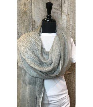 Fraas Fraas scarf Gauzy Viscose Silk Blend - Grey
