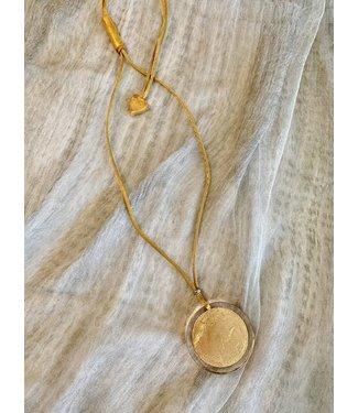 Zsiska Necklace - Circular Gold Foil