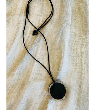 Zsiska Necklace - Circular Black