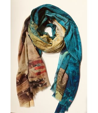 Statue of Liberty / Empire State patterned scarf **