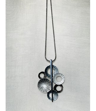 Necklace - cluster of circles