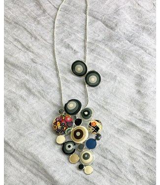 Necklace - Enamal Dots Set