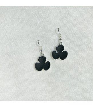 Earrings - Flower - Black