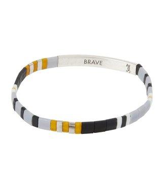 Scout Good Karma Bracelet - Brave - Grey/Silver