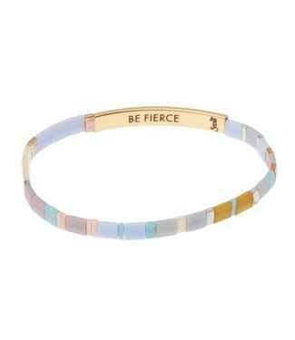 Scout Good Karma Bracelet - Be Fierce - Lavender/Gold