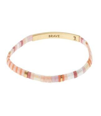 Scout Good Karma Bracelet - Brave - Pink/Gold