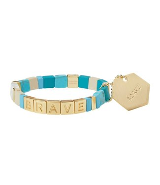 Scout Empower Bracelet - Brave - Turquoise/Gold