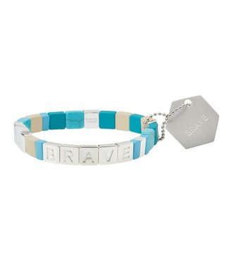 Scout Empower Bracelet - Brave - Turquoise/Silver