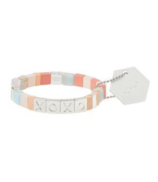 Scout Empower Bracelet - XOXO - Rose Quartz/Silver