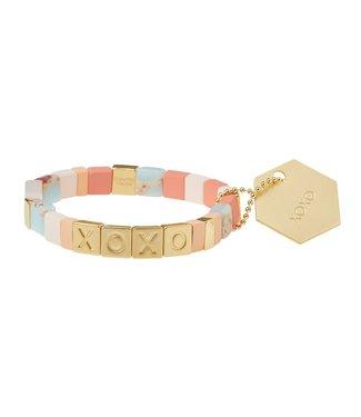 Scout Empower Bracelet - XOXO - Rose Quartz/Aqua Terra/Gold