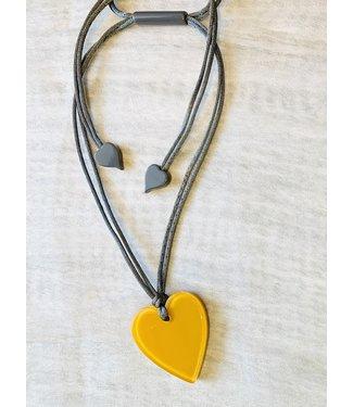 Zsiska Seasons Yellow Heart Necklace
